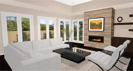 daytona modern living room - Home Designer Furniture